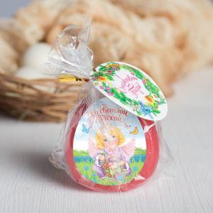 Пасхальная свеча-яйцо с картинкой «Со светлой Пасхой!»