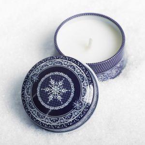 Свеча в баночке «Сeребряное Рождество»