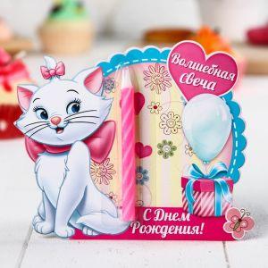 """Свеча в торт Дисней """"Волшебная свеча"""" , Коты аристократы"""