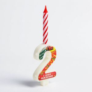 """Свеча в торт цифра Дисней """"2"""",Тачки"""