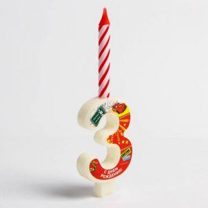 """Свеча в торт цифра Дисней """"3"""", Тачки"""