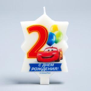 """Свеча в торт Дисней 2 """"С Днем Рождения"""", Тачки"""