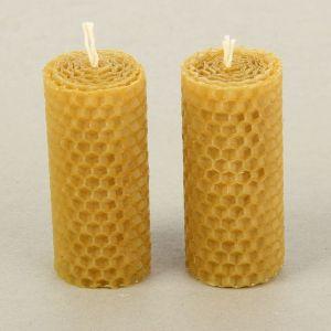 """Набор свечей из вощины медовая с добавлением эфирного масла """"Апельсин"""" 8 см, 2 шт   1411260"""