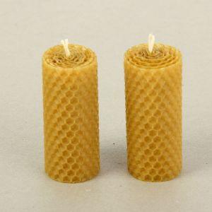 """Набор свечей из вощины медовая с добавлением эфирного масла """"Сосна"""" 8 см, 2 шт 1411262"""