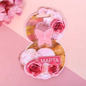 Свеча на открытке «8 Марта»