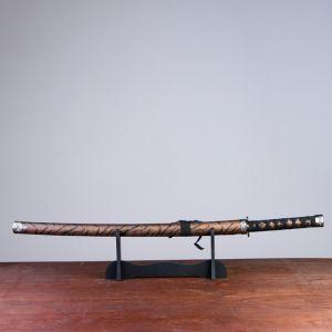 Сувенирное оружие «Катана на подставке», коричневые ножны под гепарда, 89см 740302