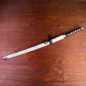 Сувенирное оружие «Катана», серые ножны под змеиную кожу, 89 см 264249