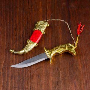 Сувенирный нож,19 см, рукоять в форме головы лошади, микс  433889