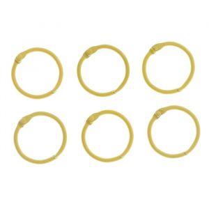 """Кольца для творчества (для фотоальбомов) """"Жёлтое"""" набор 6 шт d=3 см 2587230"""