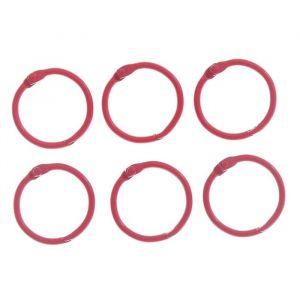 """Кольца для творчества (для фотоальбомов) """"Красное"""" набор 6 шт d=3 см 2587231"""