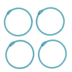 """Кольца для творчества (для фотоальбомов) """"Светло-голубое"""" набор 4 шт d=4,5 см 2587243"""