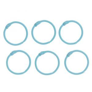 """Кольца для творчества (для фотоальбомов) """"Светло-голубое"""" набор 6 шт d=3 см 2587234"""