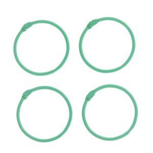"""Кольца для творчества (для фотоальбомов) """"Светло-зелёное"""" набор 4 шт d=4,5 см 2587238"""