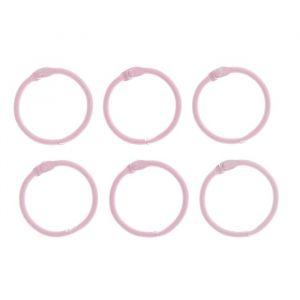 """Кольца для творчества (для фотоальбомов) """"Светло-розовое"""" набор 6 шт d=3 см 2587233"""