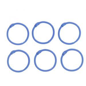 """Кольца для творчества (для фотоальбомов) """"Синее"""" набор 6 шт d=3 см 2587232"""