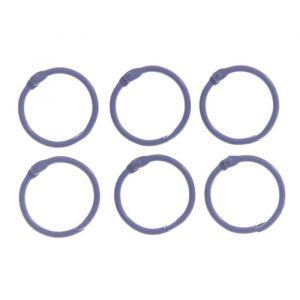"""Кольца для творчества (для фотоальбомов) """"Сиреневое"""" набор 6 шт d=3 см 2587237"""