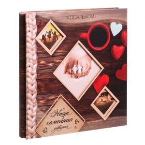 """Фотоальбом на 20 магнитных листов с рамкой на несколько окошек """"Семейный""""   3462408"""