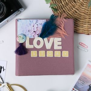 Фотоальбом Love story, набор для создания, 15.7 ? 15.7 ? 2.5 см