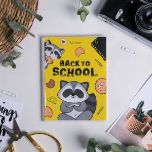 """Фотоальбом в мягкой обложке """"Back to school"""", 36 фото"""