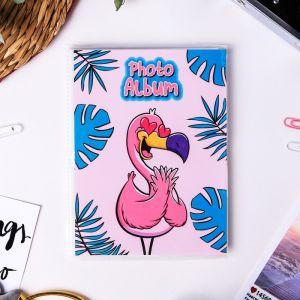 """Фотоальбом в мягкой обложке """"Фламинго"""", 36 фото"""