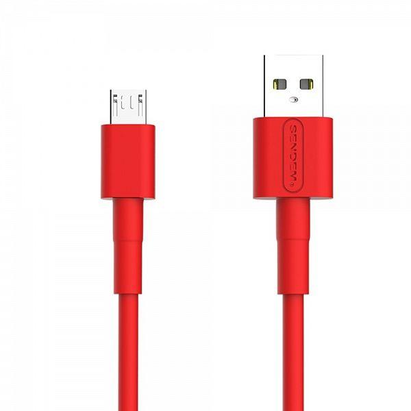 Кабель USB 5А SENDEM M66 Красный (microUSB) 1м