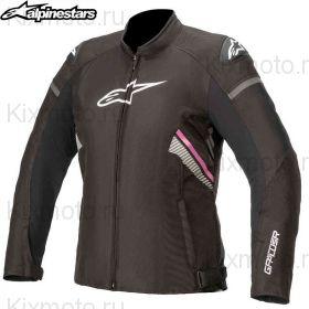 Куртка женская Alpinestars Stella T-GP Plus V3, Черно-бело-розовая