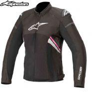 Куртка женская Alpinestars Stella T-GP Plus V3 Air, Черно-белo-розовая