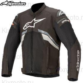 Мотокуртка Alpinestars T-GP Plus V3, Черно-бело-серая