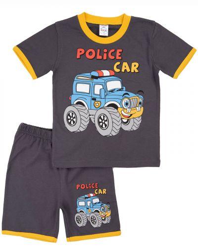 "Костюм для мальчика Bonito kids ""Police car"" темно-серый"
