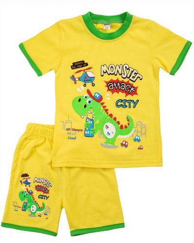 "Костюм для мальчика Bonito kids ""Monster attack"" желтый"
