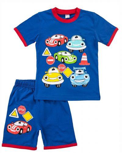 """Костюм для мальчика Bonito kids """"littel Cars"""" синий"""