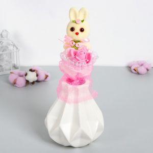 Букет «От всей души», розовый цветок