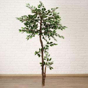 """Дерево искусственное """"Листья с белыми прожилками"""""""
