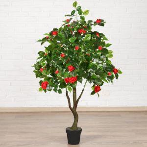 """Куст искусственный """"Роза кустовая"""" с горшком 120 см, микс 2555238"""