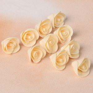 """Набор цветов для  декора """"Роза"""", из фоамирана, D=2 см, 10 шт, бежевый 2946019"""