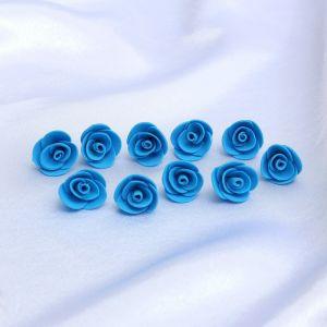 """Набор цветов для  декора """"Роза"""", из фоамирана, D=2 см, 10 шт, синий 2946023"""
