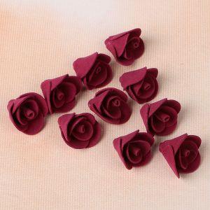 Набор цветов для декора из фоамирана, D=2 см, 10 шт, бордовый   2976274