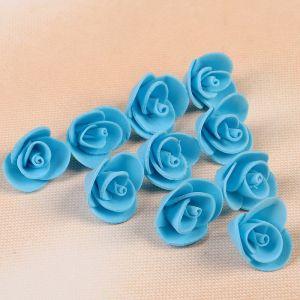 Набор цветов для декора из фоамирана, D=2 см, 10 шт, голубой   2976269