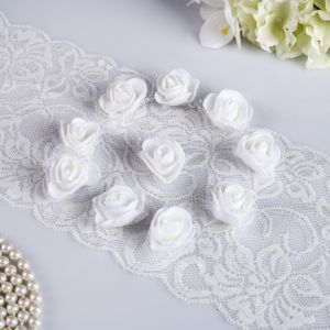 Набор цветов для декора из фоамирана, D=3 см, 10 шт, белый 2976277