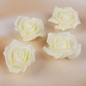 Набор цветов для декора из фоамирана, D=5 см, 4 шт, айвори 2946025