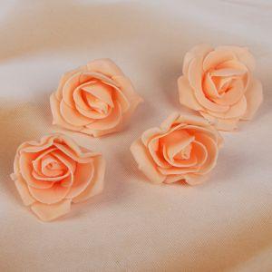 Набор цветов для декора из фоамирана, D=5 см, 4 шт, персиковый 2946027