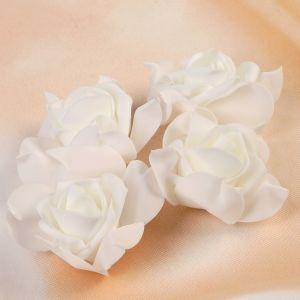 Набор цветов для декора из фоамирана, D=7,5 см, 4 шт, белый 2976282