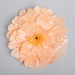 Цветы искусственные для декора, цвет персиковый
