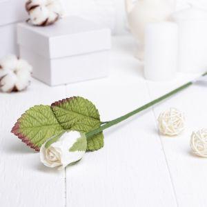 """Искусственный цветок """"Роза"""" белая 40 см 3257400"""