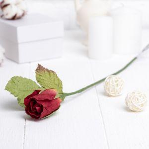 """Искусственный цветок """"Роза"""" красная 40 см 3257399"""