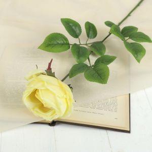"""Цветок искусственный """"Роза Heritage"""" 9*67 см, жёлтый   2248791"""