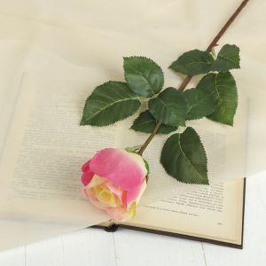 """Цветок искусственный """"Роза Мюнх"""" 9*7*60 см, жёлто-малиновая 2248851"""