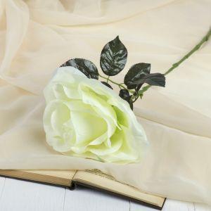 """Цветок искусственный """"Роза"""" бутон, 21*60 см, белый   3534221"""