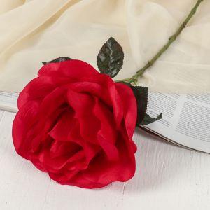 """Цветок искусственный """"Роза"""" бутон, 21*60 см, красный   3534220"""