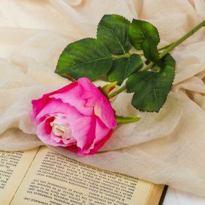 """Цветы искусственные """"Роза амбра"""" 6*51 см, розовый   3797127"""